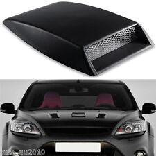 Auto Car Hood Black Carbon Fiber Air Scoop Flow Vent Decorative Bonnet Cover