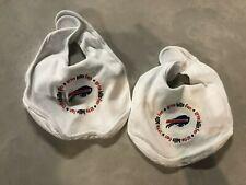Buffalo Bills NFL football fan Bib 2 Pack Baby Toddler One Size Cotton Hook Loop