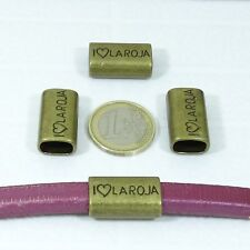 8 Abalorios Para Cuero Regaliz 21x14mm  T286  Cobre Bisuteria Leather Beads Copp
