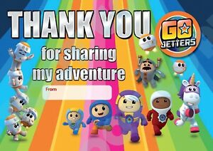 GO JETTERS Pack of 10 THANK YOU CARDS Kids Children birthday