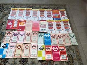 37 LONDON TRANSPORT BUS MAPS 1950s-1980s (ALL LISTED) BM3