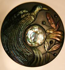 Extremely Rare...Bird of Paradise Carnival Glass Hatpin...Perfect Condition!