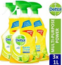 3 Dettol Spray Multipurpose Clean & Fresh 1L Disinfectant Antiseptic All n One
