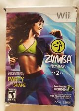 Zumba Fitness 2 (Nintendo Wii, 2011) Complete Game And Zumba Fitness Belt NEW
