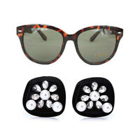 Utopiat Holly Tortoise Shell Sunglasses & Oversized Black Pearl Earrings Women