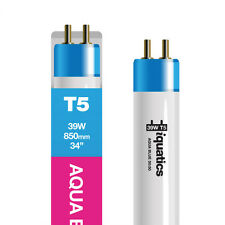 iQuatics Aquarium 39w T5 Bulb - Lighting AquaBlue 50:50 - White / Blue Blend
