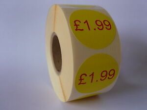 1,000 -  '£1.99' - Promotional | Retail price Labels / Stickers. Ideal for shops