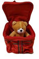 Build A Bear Workshop Zippered Plush Christmas Box Gift Card Holder Ornament