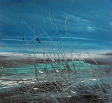 More details for semi abstract coastal / landscape art. original acrylic painting.