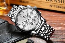 2018 ONTHEEDGE Quartz Watch Men Stainless Steel Waterproof Mechanical Wristwatch