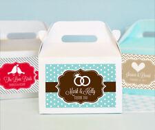 72 Personalized MOD Wedding Theme Mini Gable Boxes Wedding Bridal Shower Favors