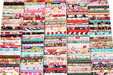 10 PCs Cotton Fabric Quilt Patchwork Flower Mix Bundle Job Lot Offcuts Scraps R1