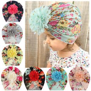 Newborn Baby Boy Girl Floral Hat Headwear Cap Hat HeadBand HairBand Accessories