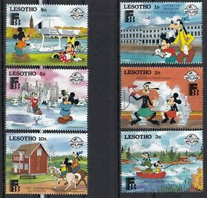 (68536) Lesotho MNH x6 Disney Finland unmounted mint 1988
