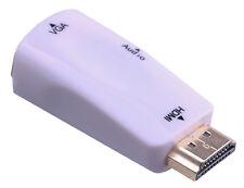 HDMI zu VGA Konverter Adapter Display Stecker Kabel Camputer Laptop 1080p FULLHD