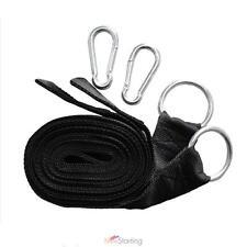 Hammock Hanging Belt Tree Straps Hammock Nylon Strap Rope Tools Kit w/ Carabiner