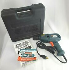 Black & Decker 3/8 inch 120V 4.5 Amp Variable Speed Electric Drill Driver w/Case