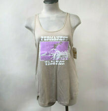 Obey Women's Tank Top Permanent Vacation Taupe Size S NWT Shepard Fairey