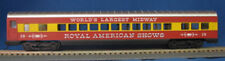 HO 72 Ft Pass. Coach Car , RTR Royal American Shows (Red/Yellow) (1-908)