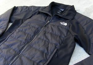The North Face Primaloft insulated puffer & softshell Hybrid Jacket Mens M Black