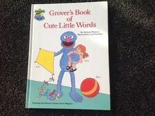 Grovers Book of Cute Little Words SESAME STREET Vintage hardcover 1985