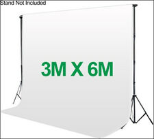 Photography 3*6m Muslin Cotton Chromakey Backdrop Studio Fabric Background WHITE