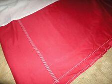 "Croscill King Bedskirt Red Soft Twill Chino Split Corner 100% Cotton 14"" Drop"