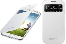 GENUINE SAMSUNG GALAXY S4 i9500 PREMIUM  WHITE S VIEW Flip CASE Cover RRP £35