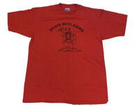 Vintage Men's Red Single Stitch Short Sleeve 50/50 T-Shirt Size Medium USA