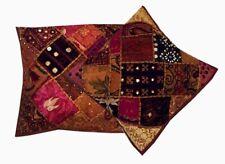 "16""-2 Copper Colorful Shisha Banjara Decor Throw Accent Cushion Pillow Covers"