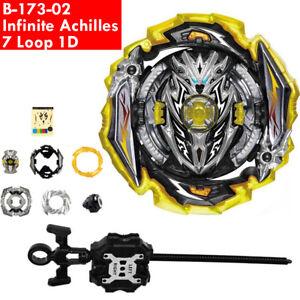 Infinite Achilles 7 Loop 1D Beyblade Burst Surge B173/02 SuperKing w/ Lanucher