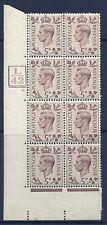 1938 5d Brown L42 5Bars cyl 3 No Dot perf 5(E/I) block 8 UNMOUNTED MINT