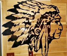 "24"" Native indian head sign- Hand Made in Waco Tx CNC Wall Art decor"