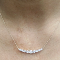 1.00 Ct Round Cut White Diamond Cluster Pendant Necklace 14k Yellow Gold Finish