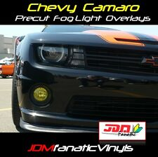 Chevy Camaro SS RS Fog Lights DRL JDM EDM French Yellow TINT Overlays Vinyl film