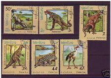 1556++LAOS    SERIE  ANIMAUX  PREHISTORIQUES   1988