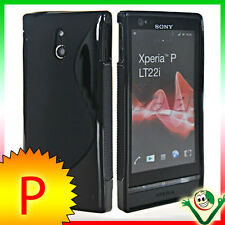 display film+Case WAVE Black for Sony Xperia P LT22i cover tight