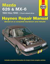 61041 New Haynes Repair Manual Mazda 626 & MX-6 1983-92