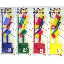 Childrens Kids Cleaning Sweeping Brush Play Set Include Broom & Dustpan Toy