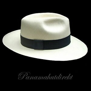 "Genuine Panama Hat from Montecristi ""Clásico"" fino fino, Men Women Straw Fedora"