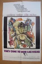THEY CAME TO ROB LAS VEGAS '68 Original OS Movie Poster GARY LOCKWOOD