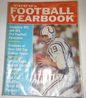 True's Football Yearbook Magazine Johnny Unitas Baltimore Colts 1968 092214R