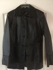 LADIES GENUINE BLACK LEATHER JACKET by EAST 5th, COMFORTABLE SIDE POCKETS  M