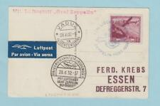 LIECHTENSTEIN C6 ZEPPELIN PICTURE POSTCARD TO ESSEN