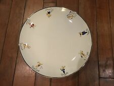 "Pottery Barn Reindeer HUGE 14"" ROUND Serving Platter NWOT Incredible! w/ All 8"