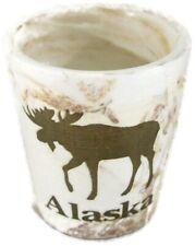 Alaskan Moose Cream Marble Stoneware Shot Glass