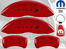 MGP Caliper Cover Black Fill on Red Paint For 2011 - 2017 Dodge Challenger