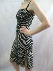 Dolce & Gabbana Mare Size 10 Black Gold Zebra Animal Print Dress