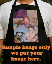 Customised/Personalised Polyester Cotton Apron print with your full colour image