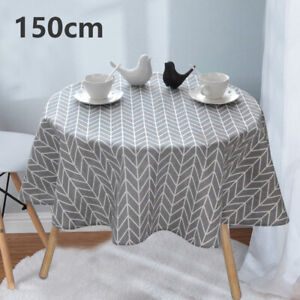2020 Table Cover Party Tablecloth Round Cotton Covers Cloths Home Kitchen 150cm